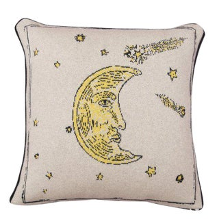 Man In The Moon Cashmere Pillow For Sale