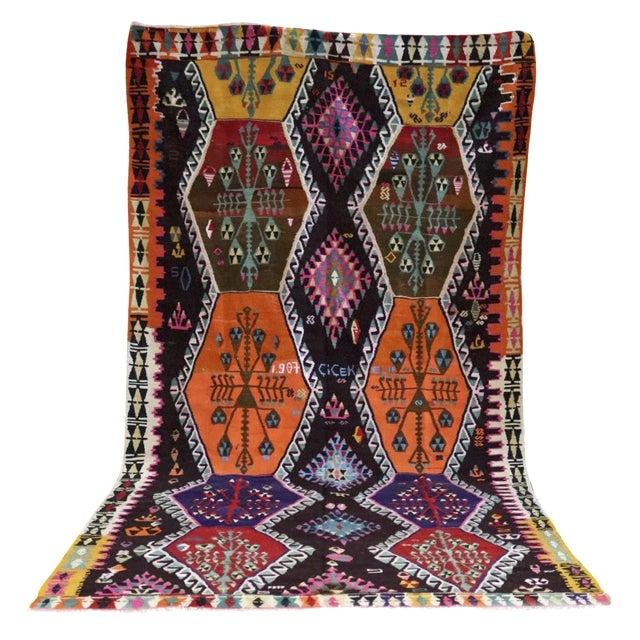 Cicek's Kyleidoscope Vintage Turkish Kilim - Image 1 of 8
