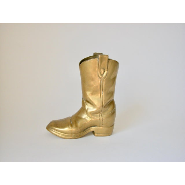 1970s Brass Cowboy Boot For Sale - Image 5 of 9