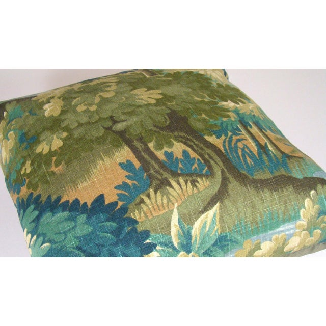 Verdure Print Linen Large Pillow Cover For Sale - Image 4 of 10