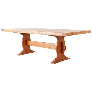 Southwest Spanish Pine Trestle Farmhouse Dining Table For Sale