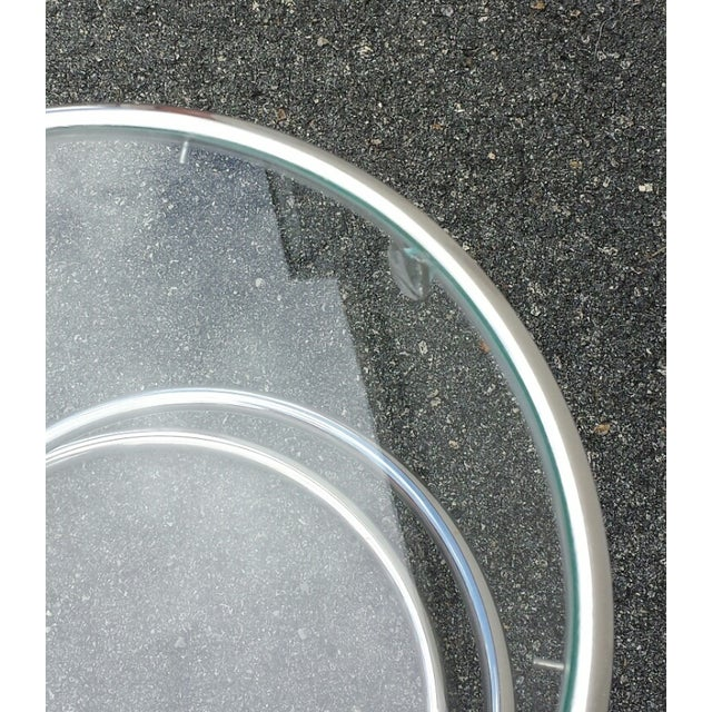 Chrome Glass Spiral Table by Leon Rosen for Pace - Image 5 of 5