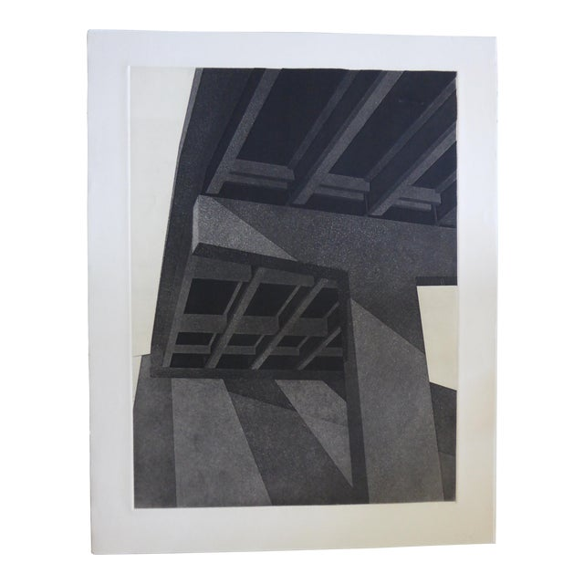 "Original Modern Industrial Graphic Silkscreen, ""Underpass #1"" - Image 1 of 5"