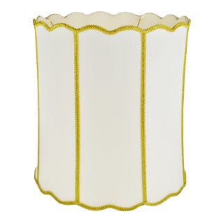 Vintage Hollywood Regency Fabric Drum Lamp Shade For Sale