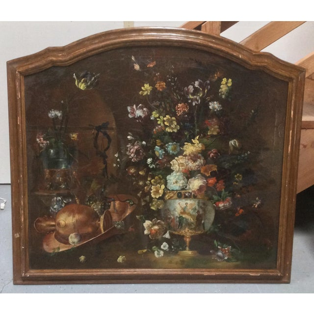 Decorative Italian Still Life Floral Painting B For Sale - Image 11 of 11