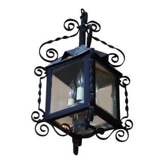 19th Century Four-Sided Arts & Crafts Iron Lantern