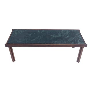 Mid-Century Modern Marble Top Coffee Table For Sale