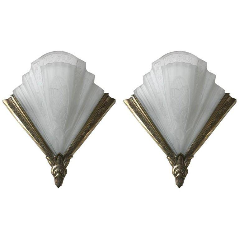Pair of Frontisi Flower Wall Sconces French Art Deco - Image 11 of 11  sc 1 st  Decaso & High-End Pair of Frontisi Flower Wall Sconces French Art Deco   DECASO