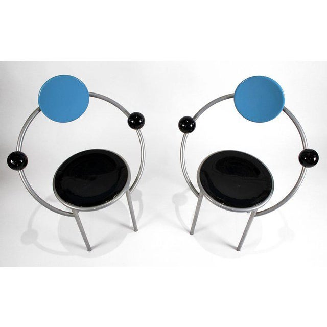 1980s 1980s 'First Chairs' by Memphis Milano Designer Michele De Lucchi - A Pair For Sale - Image 5 of 9
