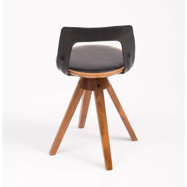 Tove and Edvard Kindt-Larsen Swivel Stool in Rosewood, 1957 For Sale - Image 4 of 10