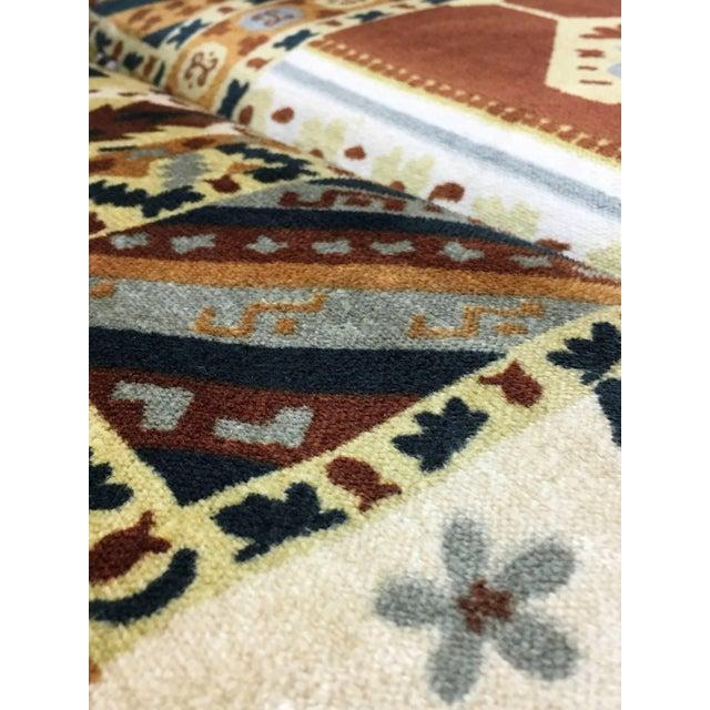 Midcentury Loveseat in Jack Larsen Style Cotton Felt For Sale - Image 4 of 10