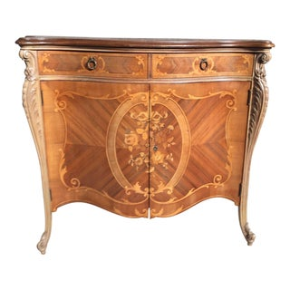 Inlaid Italian Credenza Sideboard For Sale