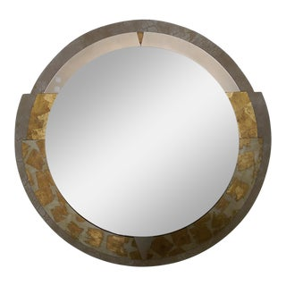 1980s Postmodern Art Deco Revival David Marshall Round Mirror