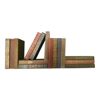 Antique First Edition Cloth & Gilt Books - Set of 15 For Sale