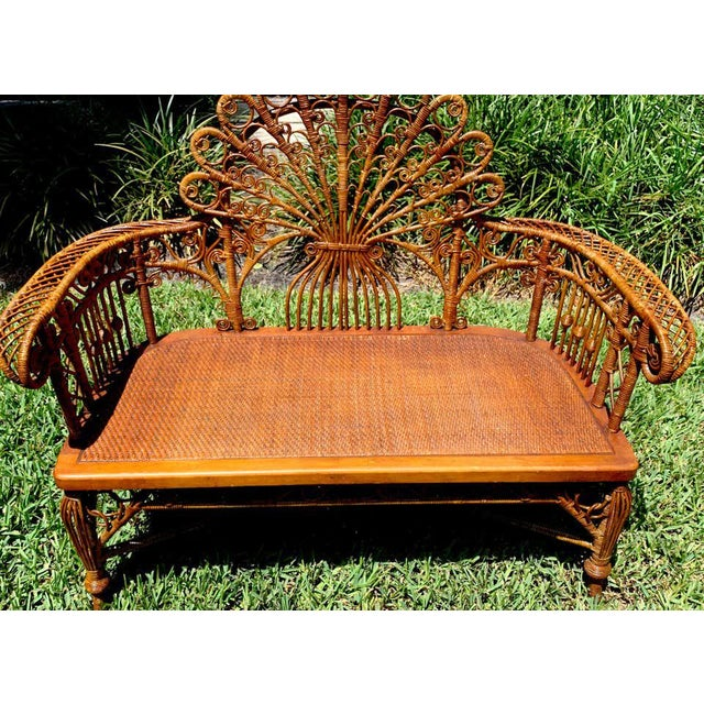 Victorian High Victorian Wicker Parlour Set - Set of 6 For Sale - Image 3 of 13