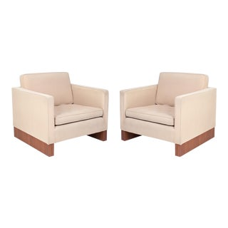 1960s Ludwig Mies Van Der Rohe Knoll Lounge Chairs - a Pair For Sale