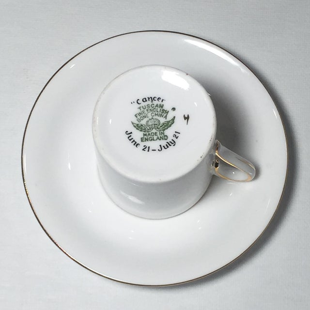Tuscan English China Gold Lobster Demitasse Cup & Saucer - Image 5 of 6