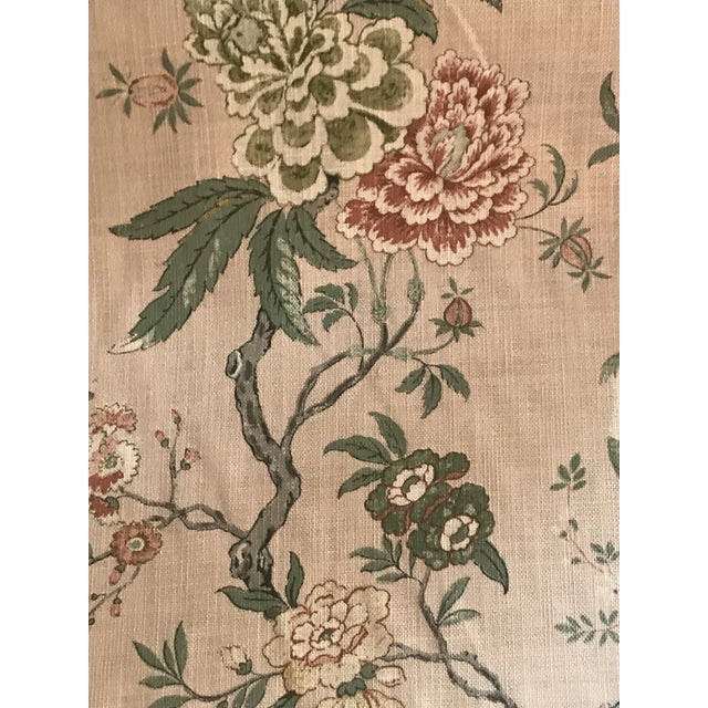 Chinoiserie Chinoiserie G P & J Baker Oriental Bird Signature Blush Linen Blend Fabric - 4 Yards For Sale - Image 3 of 8