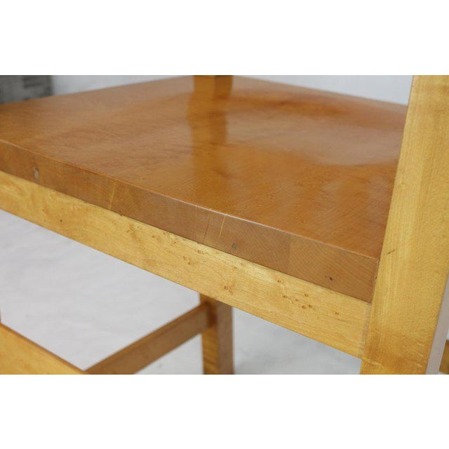 Solid Brid's-Eye Maple High Pool Chairs Bar Stools For Sale - Image 4 of 13