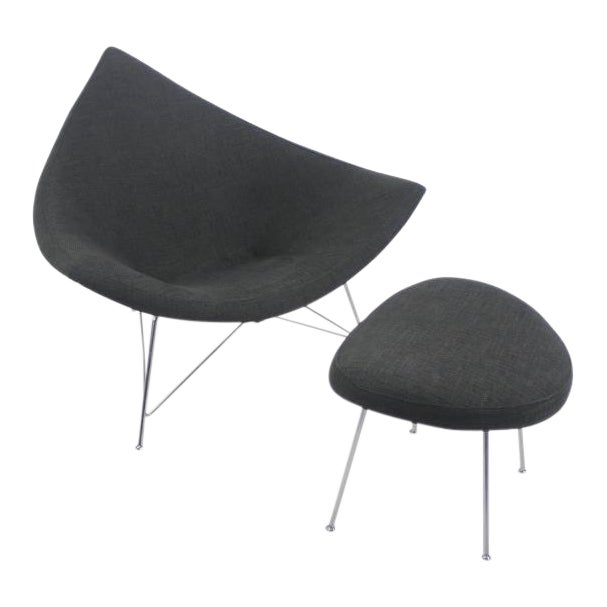 Early Edition Coconut Chair & Ottoman by George Nelson for Herman Miller For Sale