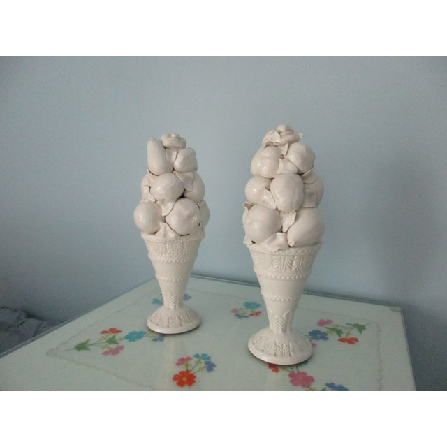 Italian Style Fruit Topiary Candle Sticks - A Pair For Sale - Image 13 of 13