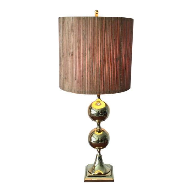 1960s Tower Craftsman Polished Brass Lamp For Sale