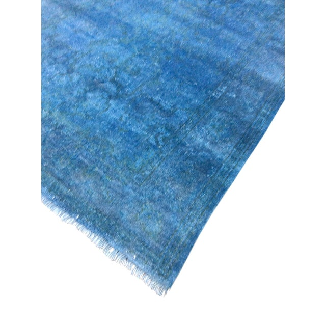 "Blue Over-Dyed Rug - 6'1"" X 8'11"" - Image 3 of 4"