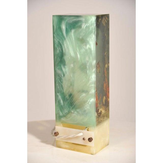 """Italian Lucite Lighted """"Under-the-Sea"""" Aquarium Sculpture - Image 3 of 7"""