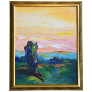 Original California Ojai Landscape Oil Painting by Juan Guzman For Sale