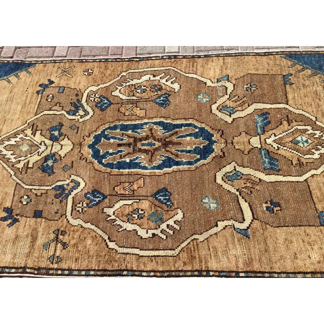 Mid-Century Modern Vintage Hand Knotted Anatolian Rug For Sale - Image 3 of 12