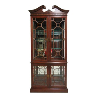 Pennsylvania House Cherry Chippendale Display Hutch For Sale