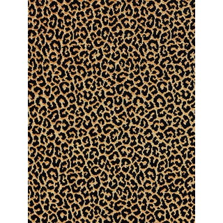 Scalamandre Panthera Velvet, Ebony Fabric For Sale