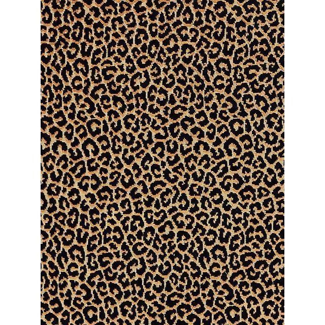 Scalamandre Panthera Velvet, Ebony Fabric For Sale