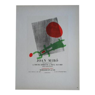 Miro Mid 20th C. Modern Lithograph For Sale
