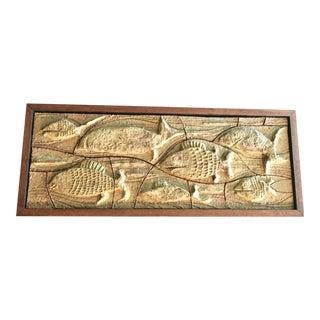 John Dunlap Mid-Century Modern Studio Pottery Fish Wall Art