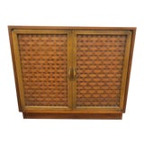 Image of 1960s Vintage Mid Century Modern Lane Perception 2 Door Cabinet For Sale