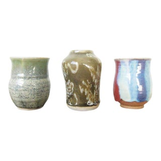 Vintage Studio Pottery Ceramic Vases - Set of 3 For Sale