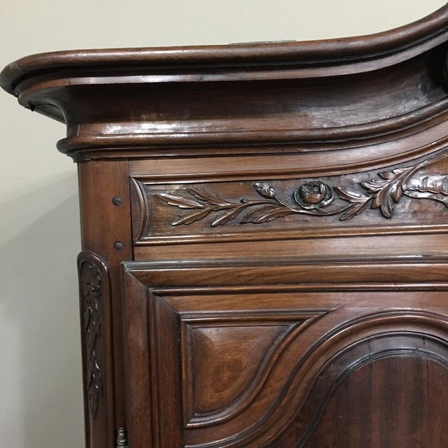 Early 19th Century Grand 19th Century Country French Solid Walnut Armoire, Circa 1850 For Sale - Image 5 of 11