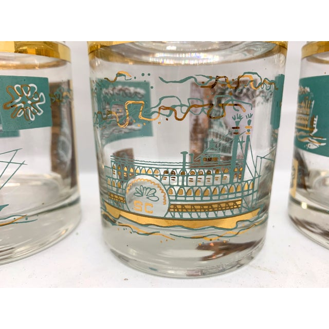 1950s Mid-Century Culver Steamboat Lowball Glasses - Set of 6 For Sale In Tampa - Image 6 of 8