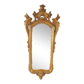 Borghese Italian Style Gold Gilt Mirror For Sale