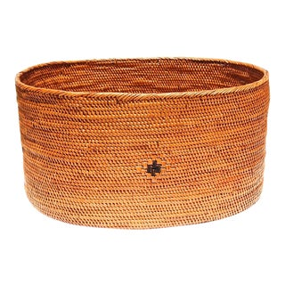 Asian Oval Handmade Basket For Sale