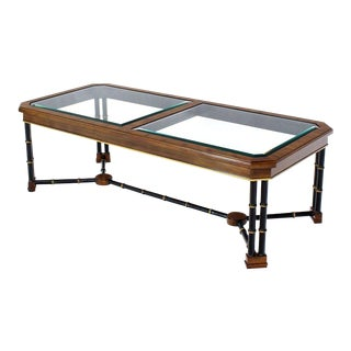 1980s Mid-Century Modern Rosewood Rectangular Coffee Table For Sale