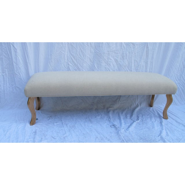 Vintage 1960s Water Fall Legs Gold Leaf Bench - Image 2 of 6