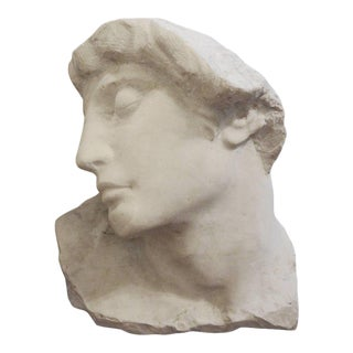 Italian Carved Marble Bust of a Classical Roman