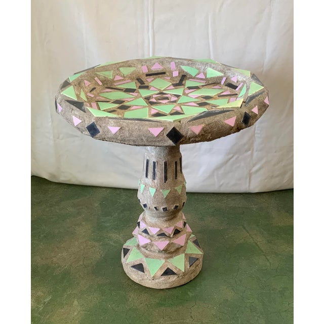Vintage Malibu Tile Bird Bath For Sale - Image 13 of 13