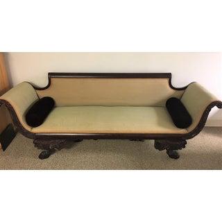C. 1860s Duncan Phyfe Style Mahogany Empire Sofa Preview