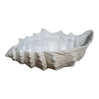 Italian Porcelain Shell Bowl For Sale