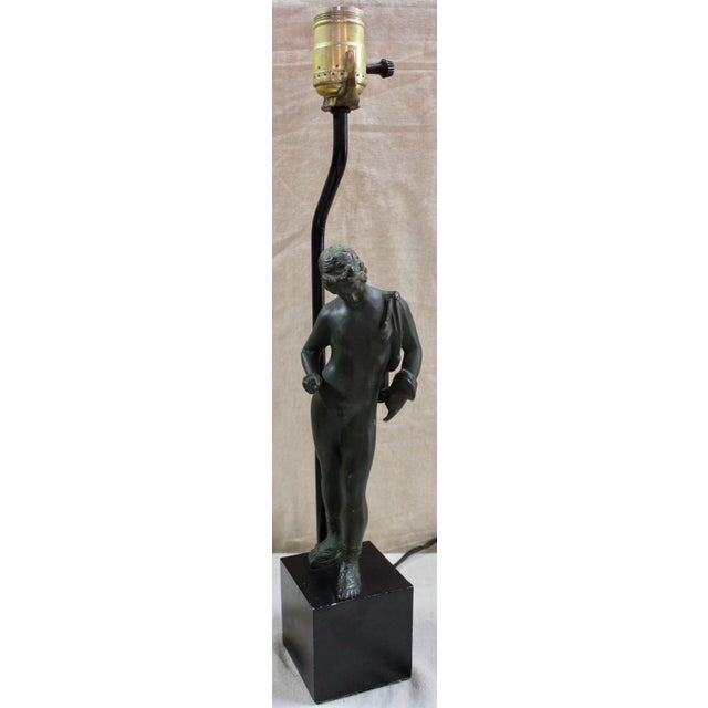 Neoclassical Narcissus Bronze Lamp For Sale In Milwaukee - Image 6 of 6
