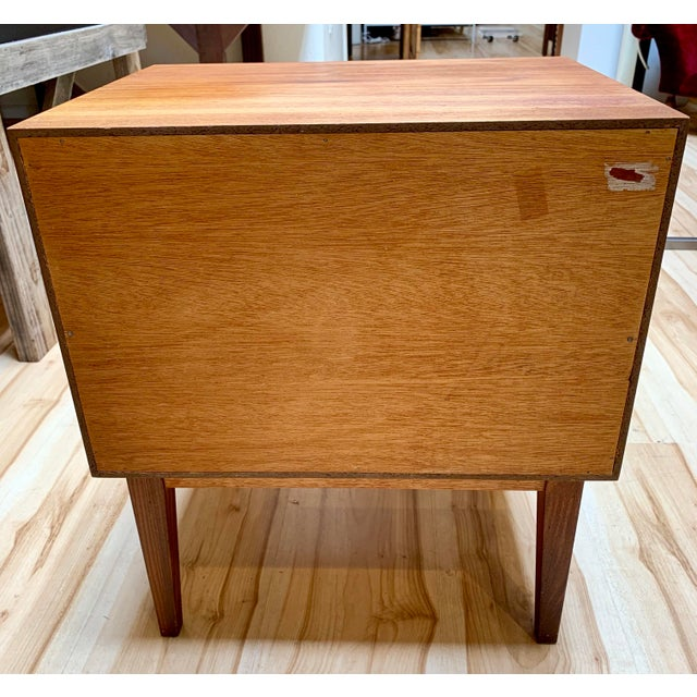 1960s Danish Modern Teak and Rosewood Nightstand For Sale - Image 9 of 13