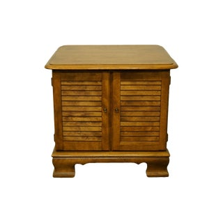Ethan Allen Heirloom Nutmeg Maple Square Shutter Door Cabinet Accent End Table For Sale